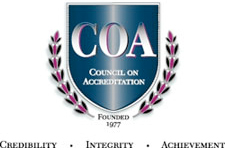 Recognized by the Council on Accreditation